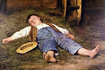 s-anker-boysleepinginthehay
